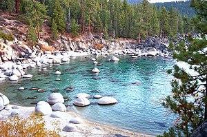 Secret Beach on Lake Tahoe's Nevada side, 2003