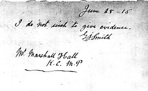 English: Handwritten note by George Joseph Smi...