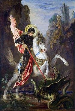 São George e o Dragão, de Gustave Moreau - fonte: Wikipédia