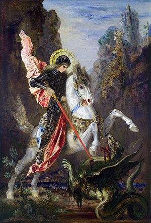 Saint George by Gustave Moreau. Español: San J...