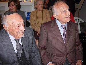 English: Elio Toaff with Scalfaro Italiano: El...
