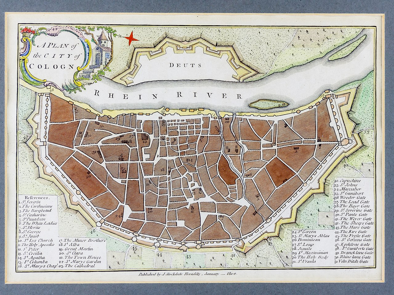 File A Plan Of The City Of Cologne 1800 John Stockdale