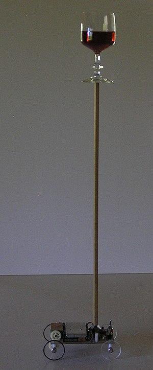 Inverted pendulum balancing cart