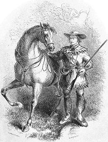 Mountain man Kit Carson and his favorite horse
