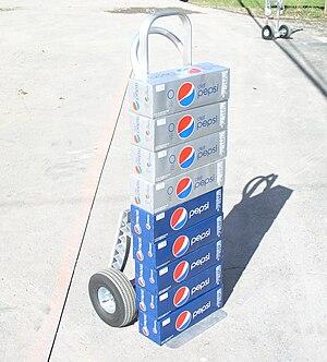 English: Pepsi Cola and Diet Pepsi soda delivery