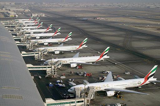 Emirates Boeing 777 fleet at Dubai International Airport Wedelstaedt