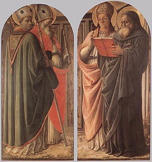 Fra Filippo Lippi - The Doctors of the Church ...