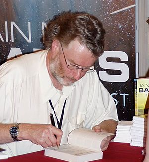 Ian M. Banks at Worldcon 2005 in Glasgow, Augu...