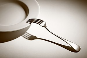 English: The fork