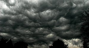 The clouds were amazing this afternoon during ...