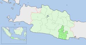 English: Map showing location of Tasikmalaya R...