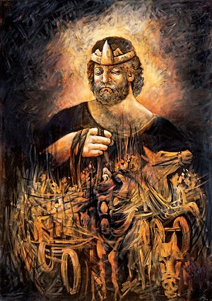 Painting Of The King Saul.