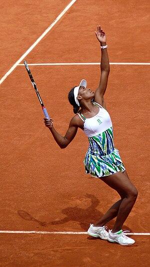 Venus Williams against Ágnes Szávay in the 200...