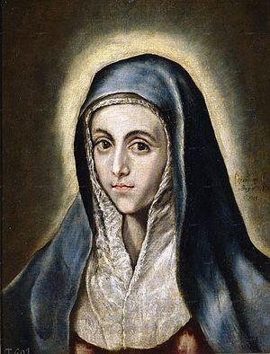La Virgen María. Óleo sobre lienzo, 52 × 41 cm...