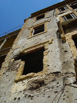 War damage to apartments during the same period