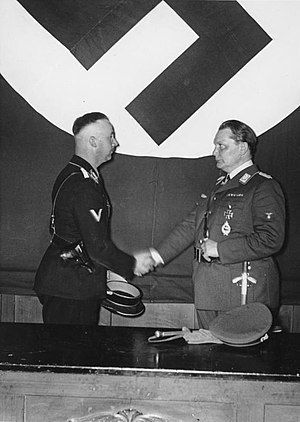 Heinrich Himmler and Hermann Göring at the mee...