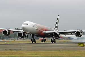 Etihad Airways Airbus A340-600 at Canberra Airport