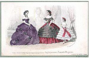 Fashion plate, 1860 V&A Museum no. E.267-1942