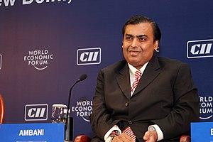 Mukesh Ambani during World Economic Forum 2007