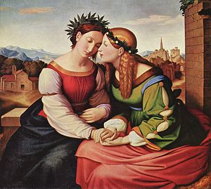 Italia and Germania by Friedrich Overbeck, sym...