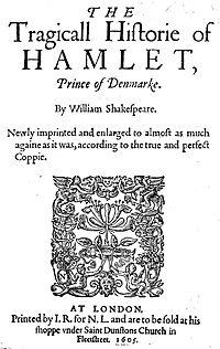 Frontispicio de la edición de Hamlet de 1605