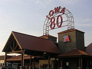 Iowa 80 truck stop, Iowa, USA.