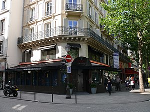 English: Jazz-club le Duc des Lombards, street...