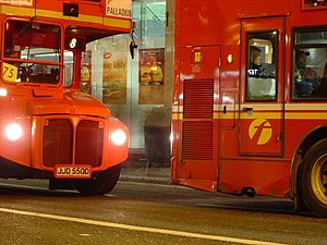 A Stagecoach London Routemaster bus and a Firs...