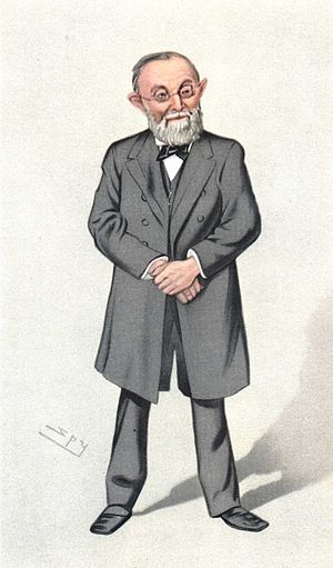 Caricature of Rudolf Virchow. Caption read &qu...