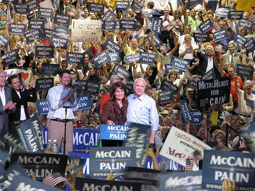 Sarah Palin and John McCain in Albuquerque