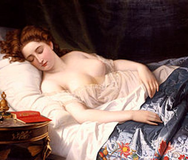Imogen In Her Bed Chamber Where Iachimo Witnesses The Mole Under Her Breast Illustrated By Wilhelm Ferdinand Souchon In