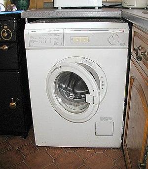 Front-loading washer machine.