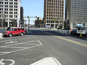 The recently re-opened Federal Street, in Youn...