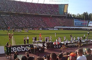 Canadian Football League game at Commonwealth ...