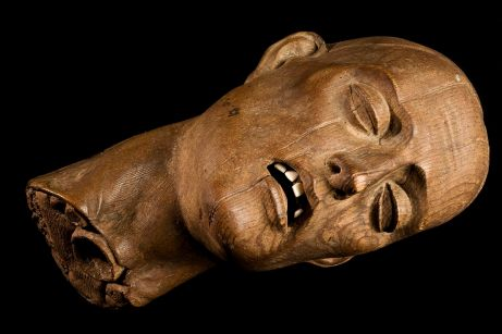 Carved wooden head of a Christian martyr, Europe, 1501-1600 Wellcome L0057347.jpg