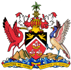 English: coat of arms of Trinidad and Tobago. ...