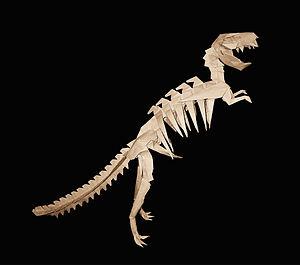 Esqueleto de T-Rex de papel.