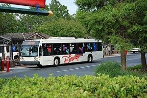 A Disney bus in Walt Disney World, Florida