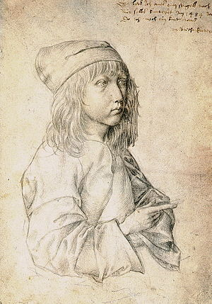 Durer self-portrait at the age of thirteen. , ...