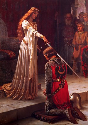 The Accolade, by Edmund Blair Leighton. Oil on...