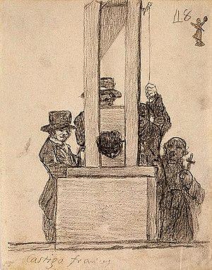 Francisco de Goya - The French Penalty.