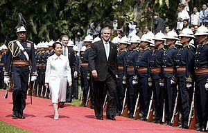 President George W. Bush and Philippine presid...