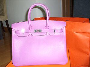 A Hermès Birkin bag.