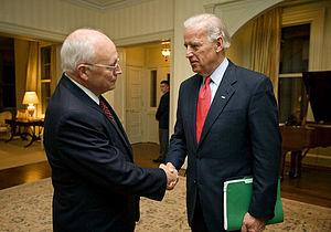 Vice President Dick Cheney bids farewell to Vi...