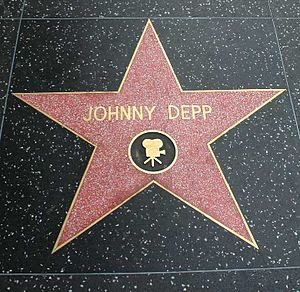 Johnny Depp's star on the Walk of Fame in Holl...