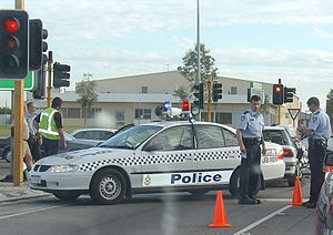 Police attendance at Perth traffic accident