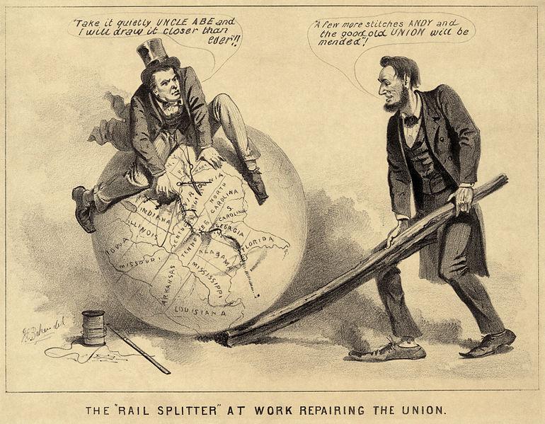 The Rail Splitter At Work Repairing the Union - 1865