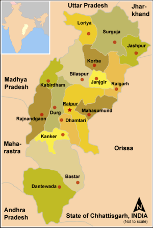 Political Map of Chhattisgarh