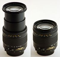 :en:Nikkon 28-200 mm :en:zoom lens, extended t...