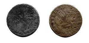 English: Moneda de 1/8 de real acuñada en More...